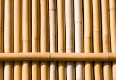 Bamboo texture, architecture decoration in asia. Royalty Free Stock Image