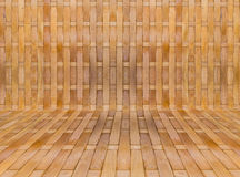 Bamboo texture background. Texture background of Yellow Bamboo stick cross build in room Royalty Free Stock Image