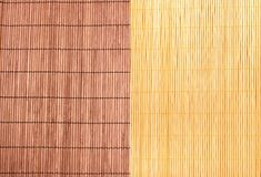 Bamboo texture in brown and straw colour Royalty Free Stock Images