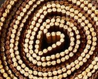Bamboo texture circle Stock Images
