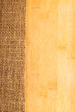 Bamboo texture with hessian Stock Photography