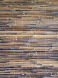 Bamboo texture tiles on wall Stock Photos