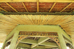 Bamboo and thatch with cement structure Stock Image