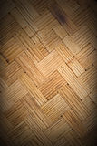 Bamboo thin lines weave, zigzag wall with dark border, backgroou. Nd and texture Stock Photo