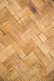 Bamboo thin lines weave, zigzag wall house use to room in thaila. Nd, backgroound and texture Stock Photography