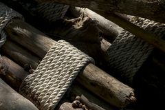 Bamboo , tie a rope. Stock Photography