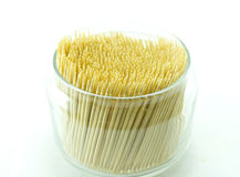 Bamboo toothpick on white backgroud Stock Photography
