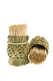 Bamboo toothpicks Stock Images