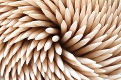 Bamboo toothpicks. Close-up Stock Image