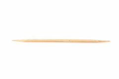Bamboo toothpicks isolated Royalty Free Stock Image