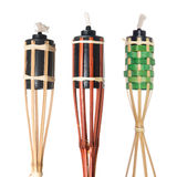 Bamboo torches Stock Photo