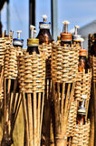 Bamboo torches Stock Photography