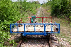 Bamboo Train Royalty Free Stock Photography