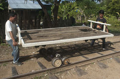 Bamboo Train. Battambang. Cambodia Stock Images