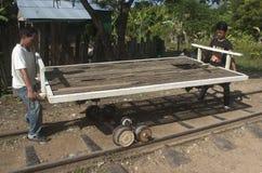Bamboo Train. Battambang. Cambodia Stock Images