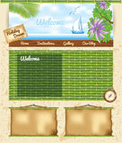 Bamboo Travel Template Royalty Free Stock Images