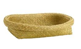 Empty bamboo tray isolated  Royalty Free Stock Photography