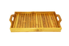 Bamboo tray Royalty Free Stock Image