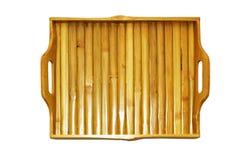 Bamboo tray Stock Image