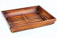 Bamboo tray Royalty Free Stock Photos