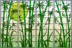 Bamboo Tree. Easy to edit vector illustration of bamboo tree in stained glass painting Royalty Free Stock Photo