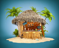 Bamboo tropical bar Royalty Free Stock Photo