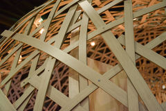 Bamboo truss structure Royalty Free Stock Photography