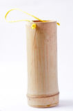 Bamboo tube for drinking water on white background Royalty Free Stock Image