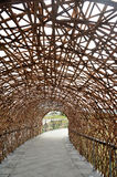 Bamboo tunnel. Structure in Taiwan Royalty Free Stock Images