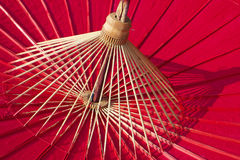 Bamboo Umbrella Stock Photography
