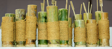 Bamboo utensils Royalty Free Stock Image