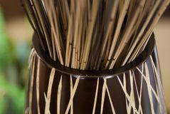Bamboo Vase Display Royalty Free Stock Photography