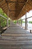 Bamboo walkway Stock Image