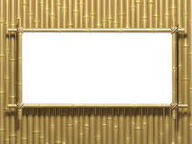 Bamboo wall. Very high resolution 3d rendering of a bamboo wall Stock Photography