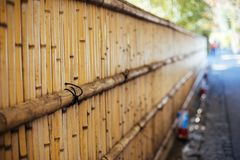 Bamboo wall in Arashiyama, Kyoto, Japan. Bamboo wall at Arashiyama in Kyoto, Japan Royalty Free Stock Image