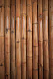 Bamboo wall background in the building. Close up bamboo wall Stock Photo