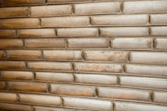 Bamboo wall background and texture Stock Image
