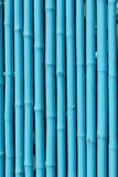 Bamboo wall. Blue bamboo wall, bamboo texture and pattern Royalty Free Stock Image