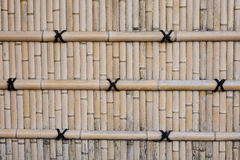A bamboo wall at the castle in Kyoto, Japan Stock Image
