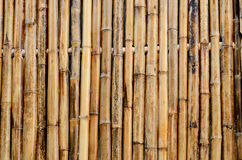 Bamboo wall decorate background Royalty Free Stock Image