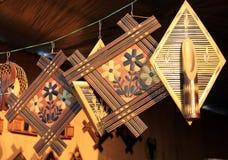 Bamboo wall-hangings Royalty Free Stock Photo