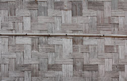 Bamboo wall of house. Bamboo wall of Laos house made from pieces of bamboo wood and arranged in Asian traditional pattern Stock Images