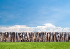 Bamboo wall in paradise field Royalty Free Stock Photography