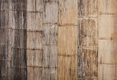 Bamboo walls. The walls are made of bamboo, bamboo crafts from Thailand. The car used to make contemporary art stock photography
