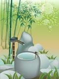 Bamboo water Stock Images