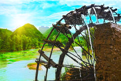 Bamboo water wheel Stock Photography