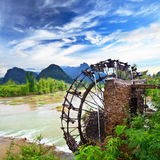 Bamboo water wheel Royalty Free Stock Photos