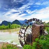 Bamboo water wheel Royalty Free Stock Photos