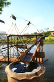 Bamboo Water Wheel. North of Thailand Royalty Free Stock Images
