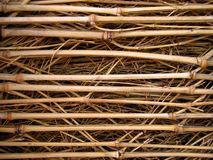 Bamboo wattle texture Royalty Free Stock Photos